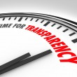 Time for Transparency Clarity Honest Forthright Clock — Stock Photo