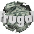 Stock Photo: Frugal Money Ball Cheap Saving Cash Reduce Spending