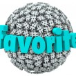 Favorite Word Hashtag Tag Sphere Best Trend Topic — 图库照片