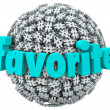 Favorite Word Hashtag Tag Sphere Best Trend Topic — Stockfoto