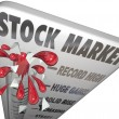 Stock Photo: Stock Market Thermometer Rising Values Making Money