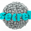 Stock Photo: Secret Word Sphere Ball Confidential Secretive Information