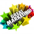 Great Marketing Words Business Advertising Promotion — Stock Photo