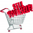 Stock Photo: Sell Yourself Shopping Cart Market Your Abilities Skills