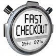 Fast Checkout Store Buy Purchase Quick Service Stopwatch Timer — Stock Photo #39072231