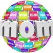 Stock Photo: Mom Word Sphere Mentor Friend Helper Parenting Roles