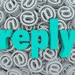 Reply Response Email Deliver Send Answer Message — Stock Photo #39072327