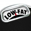 Stock Photo: Low-Fat Words Scale Nutritional Food Choice Snacks