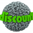 Discount Percent Sign Sphere Save Money Sale Price — Stock Photo