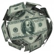 Stock Photo: Hunded Dollar Bill Money Ball Cash Currency