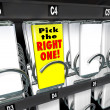 Pick the Right One Vending Snack Machine Best Product — Stock Photo