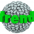 Trend Word Hashtag Tag Number Sign 3D Sphere — Stock Photo