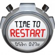 Time to Restart Stopwatch Timer Redo Refresh Reinvent — Stock Photo #39073131