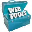 Foto de Stock  : Web Tools Toolbox Online Website Developer Kit