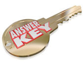 Answer Key Gold Unlocking Solution Solve Question — Stock Photo