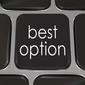 Best Option Computer Keyboard Key Better Top Choice — Stock Photo