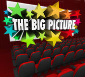 Big Picture Movie Theatre Screen Show Perspective Vision — Stock Photo