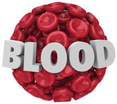 Blood Word Red Cell Cluster Clot Condition Disease — Stock Photo