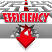 Efficiency Arrow Breaking Barriers Better Effective Results — Stock Photo