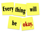 Everything Will Be Okay Reassurance Advice Problem Worry OK — Stock Photo