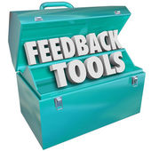 Feedback Tools Toolbox Comments Reviews Opinions — Stock Photo