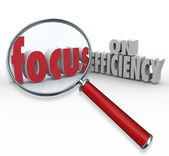 Focus on Efficiency Magnifying Glass Searching Effective Ideas — Stock Photo