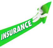 Insurance Person Riding High Costs Expenses Medical Prices — Stock Photo