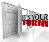 Its Your Turn Open Door Chance Opportunity Career — Stock Photo
