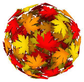 Leaves Changing Color Autumn Fall Leaf Ball — Stock Photo