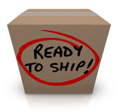 Ready to Ship Cardboard Box Mailing Package Order In Stock — Stock Photo