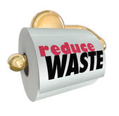 Reduce Waste Use Less Resources Cut Trash Garbage — Stock Photo