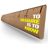 Ruler - To Measure is to Know - Importance of Metrics — Stock Photo