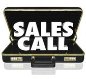 Sales Call Open Briefcase Selling Presentation Proposal — Stock Photo