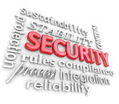 Security Words Protection Network Information Technology — Stock Photo