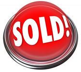 Sold Red Button Light Final Deal Auction Bid — Stock Photo