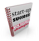 Start-Up Success New Business Strategy Advice Book — Stock Photo