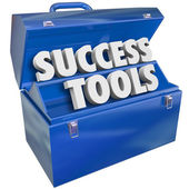 Success Tools Toolbox Skills Achieving Goals — Stock Photo