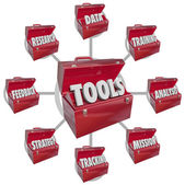 Toolbox Tools Increasing Skills Success Goal Mission — Stock Photo