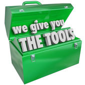 We Give You the Tools Toolbox Valuable Skills Service — Foto de Stock