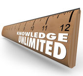 Knowledge Unlimited Ruler High Intelligence Education — Stock Photo