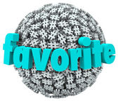 Favorite Word Hashtag Tag Sphere Best Trend Topic — Stock Photo