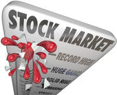 Stock Market Thermometer Rising Values Making Money — Stock Photo