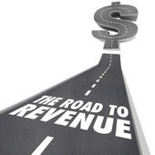 Road to Revenue Making Money Income Job Earning — Stock Photo
