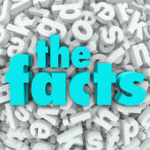 The Facts 3D Words Background Information Real Data — Stock Photo