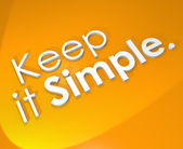 Keep It Simple 3D Word Background Easy Life Philosophy — Stockfoto