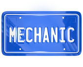 Mechanic Word Vanity License Plate Auto Repair Shop Garage — 图库照片