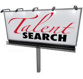 Talent Search Billboard Help Wanted Find Skilled Workers — Stockfoto