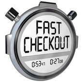 Fast Checkout Store Buy Purchase Quick Service Stopwatch Timer — Stock Photo