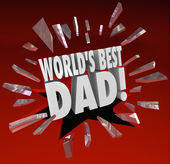 World's Best Dad Parenting Award Honor Top Father — Stock Photo