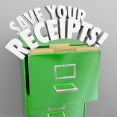 Save Your Receipts File Cabinet Tax Audit Records — ストック写真